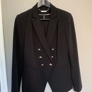 Black suit with silver buttons